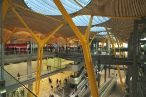 Barajas International Airport in Madrid, Spain