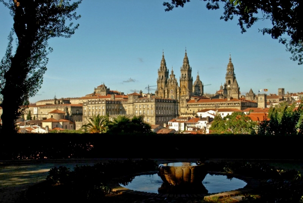 "Santiago de Compostela, the final destination for ""The Way of St. James"", a pilgrimage in Northern Spain visited annually by 100,000 people."