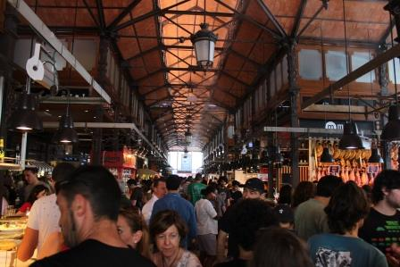 San Miguel Market, Madrid, a popular tourist location for tasting Spanish food.