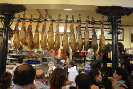 Ham, Spanish style, a frequent site in restaurants and markets