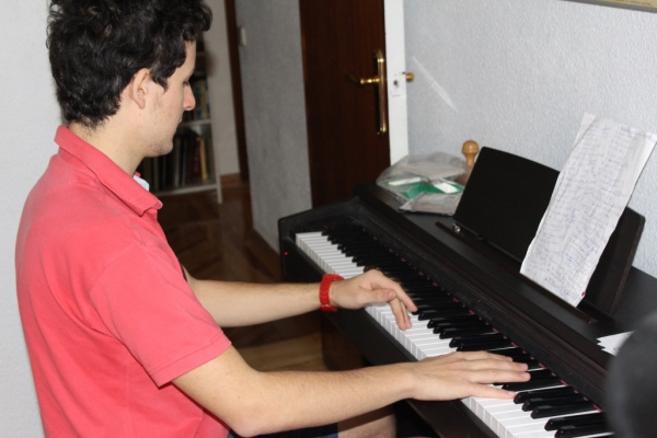 Pedro at the piano