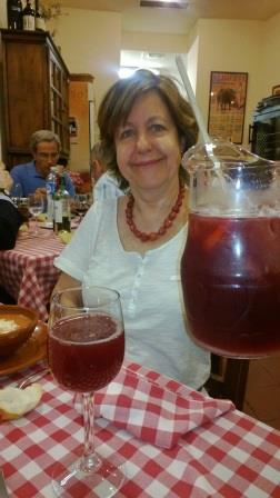 Sangria, a refreshing wine drink with fruit.