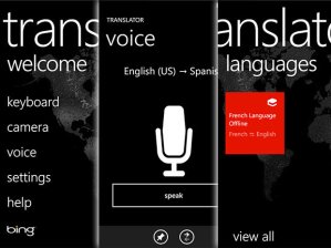 I would've been lost without my trusty Bing translator on my Windows 8 phone.