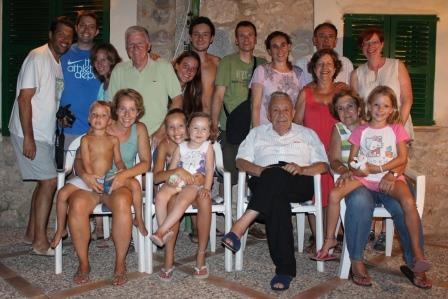 With my Spanish family on my final night in Spain.