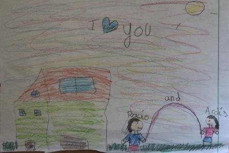 A parting gift from one of the grandchildren who touched my heart.
