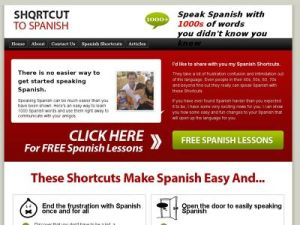 ShortcuttoSpanish.com, my favorite online study tool.