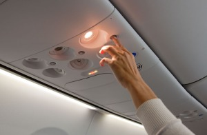Flight attendant call button