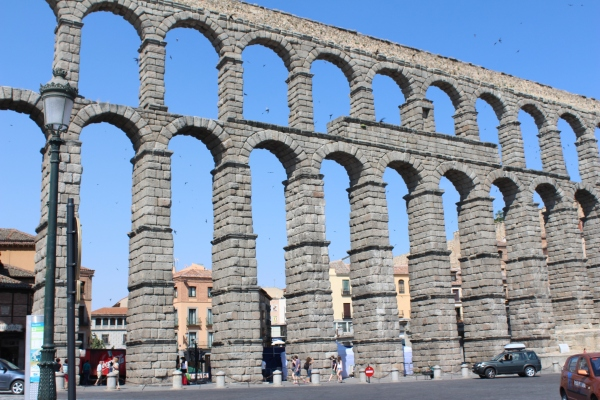 My trip of a lifetime, seeing sights like the Roman aqueduct from the 1st century, Segovia, Spain.