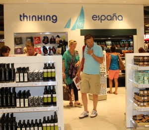 The Duty Free shop at the Palma airport was full of Spanish products including Iberian ham.