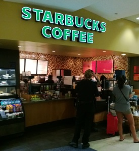 Seeing the Starbucks at JFK airport was a welcome reminder that I was almost home.