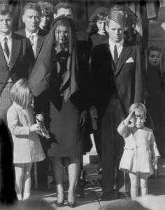 JFK, Jr. models courage and honor at the tender young age of 3 years old.