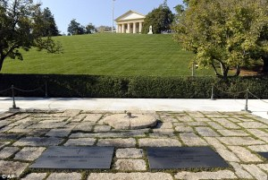 Eternal flame and burial site of President and Mrs. Kennedy, Arlington Cemetery