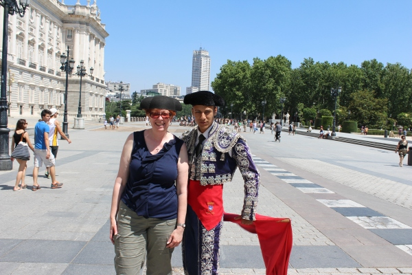 Acting like a stereo-typical tourist, while also fitting in with the Spanish lifestyle, Madrid