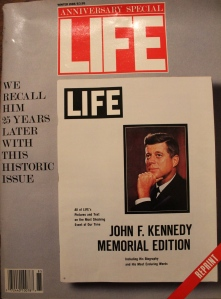 One of many magazines and books I've collected about JFK over the years, 1988.