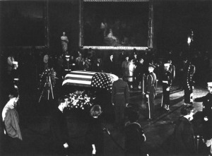 Kennedy's body lies in state--a grief that shook the nation.