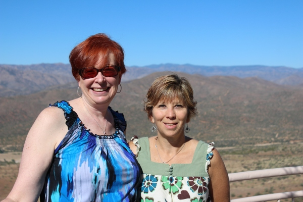 Cheryl and me on the way to Sedona.