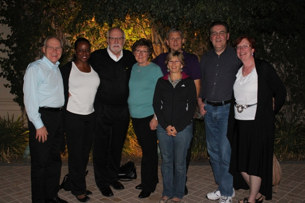 Dinner with the Fuhr's and the other chiropractic instructors.