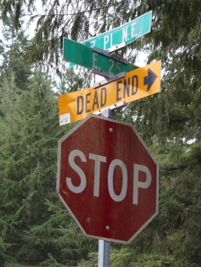 The street sign may have read 'dead end', but the events of the day proved otherwise.
