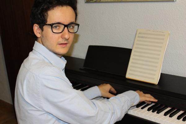 Pedro in his studio in Madrid, July 2013.