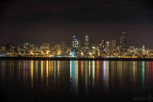 12th man Seattle skyline