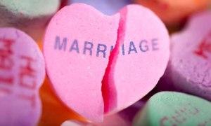 Broken marriage heart