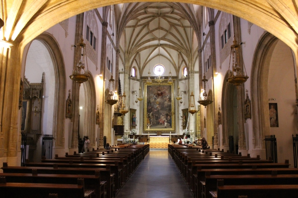 Inside my first church in Spain, San Jerónimo el Real, in Madrid.
