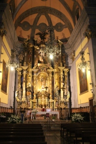 Main altar, Cathedral of St. Bartholomew, Soller, Mallorca (Balearic Islands)