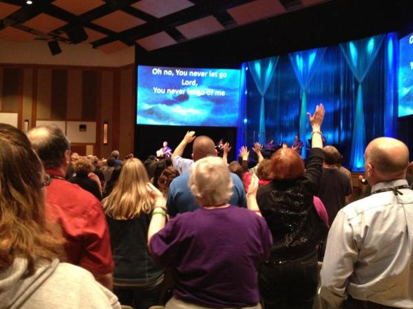 On a spiritual high, at the CR 1-day conference in Portland, OR, February 2012.