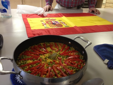 Pastor Josh served authentic paella for the CR attendees.