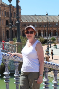 At Plaza de Espana, July 2013.