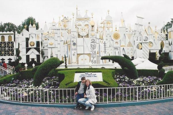 At 'It's a Small World', April 2003.