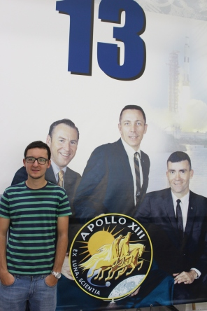 Pedro with the Apollo 13 crew.