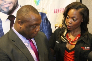 Kevin Nwankwor, the producer/director of Tempting Fate, is interviewed by Sky Houston, Majic 102.1 radio station.
