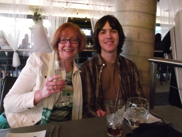 Toasting to the release of Journeys to Mother Love, August 2012.