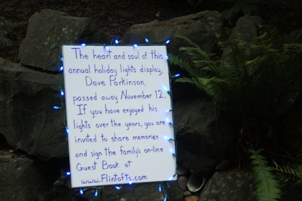 Dave's family did honor him with a light display in 2011 and beyond.