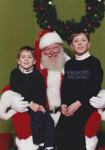 On Santa's lap, 2001