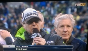 Post game comments by Seahawks Chairman Paul Allen