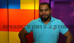 Actor Ramsey Nouah in the SpeaksTV studio.
