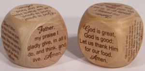 English prayer cube