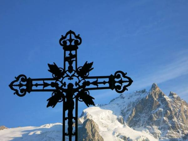 Prayers sent heavenward in the French Alps, Sept. 2014.