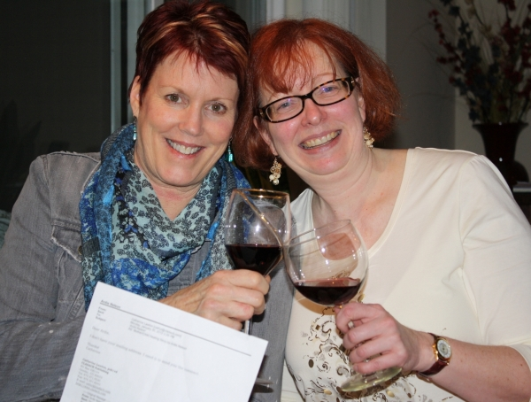Toasting the acceptance of my manuscript with a friend, January 2012.