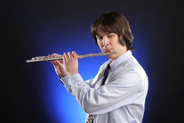 My son, the flutist, taking the road less traveled.
