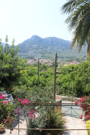 The view from my bedroom window in Sóller.