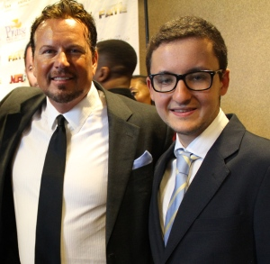 Dan & Pedro at the VIP Screening in Houston, July 4, 2014.