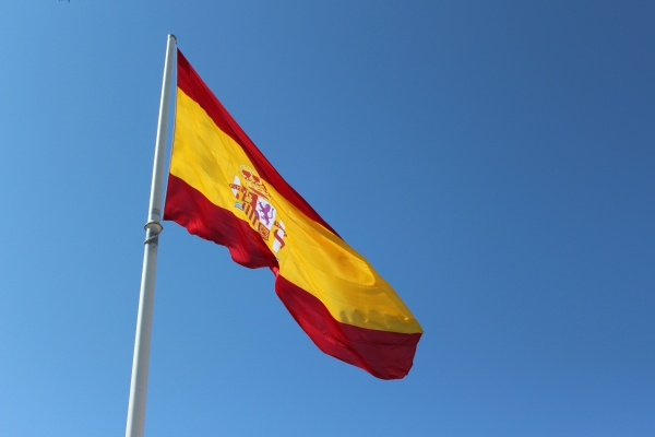 The largest flag in Spain.