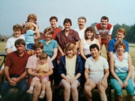 A group gathering, summer 1987, shortly before I moved to Seattle.