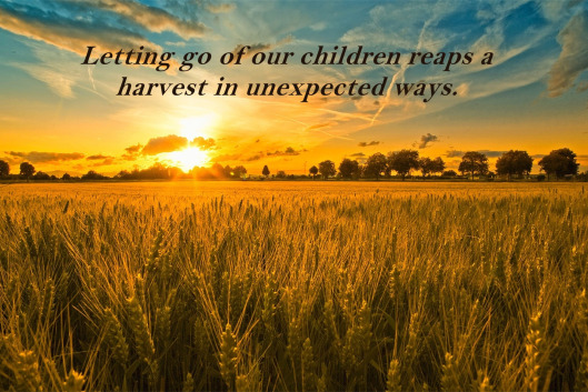 Letting go of our children reaps a harvest in unexpected ways.